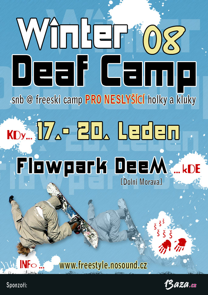 Plak�t k Winter Deaf Camp 08
